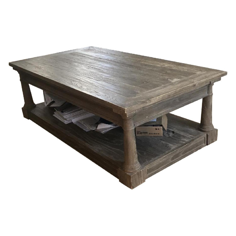Restoration Hardware Wood Coffee Table