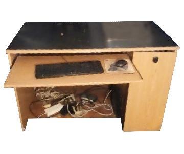 Wood Computer Desk