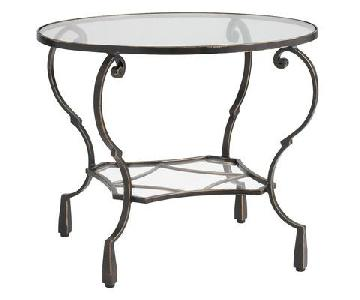 Pier 1 Chasca Glass & Iron End Tables