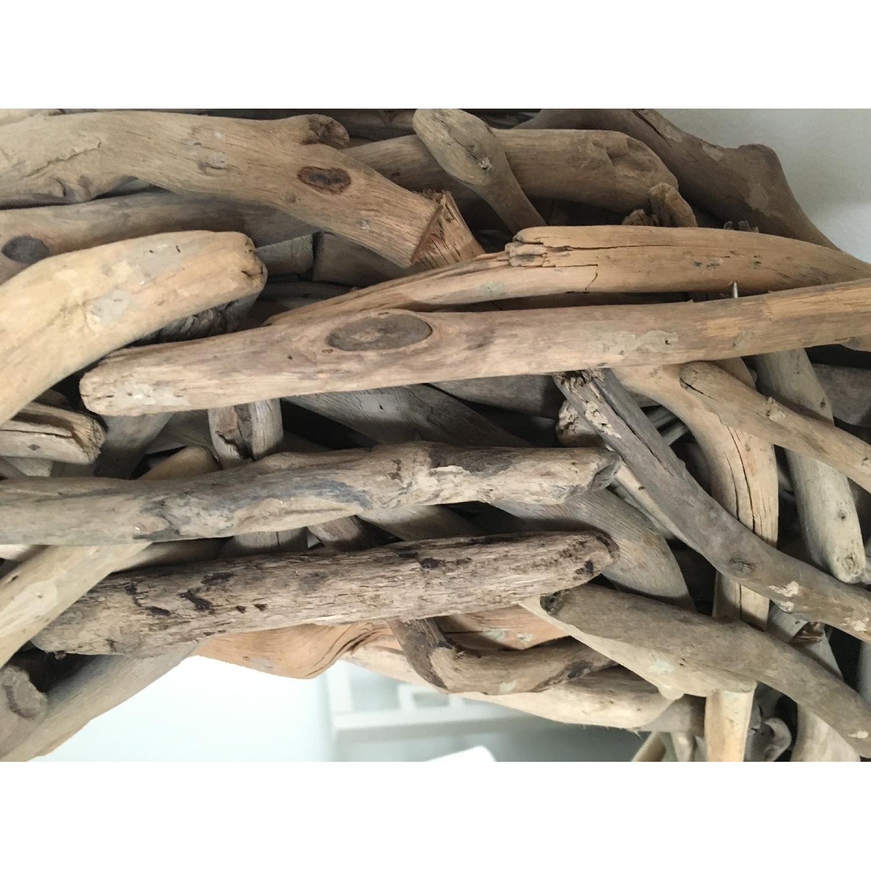 West Elm Round Driftwood Wall Mirror-1