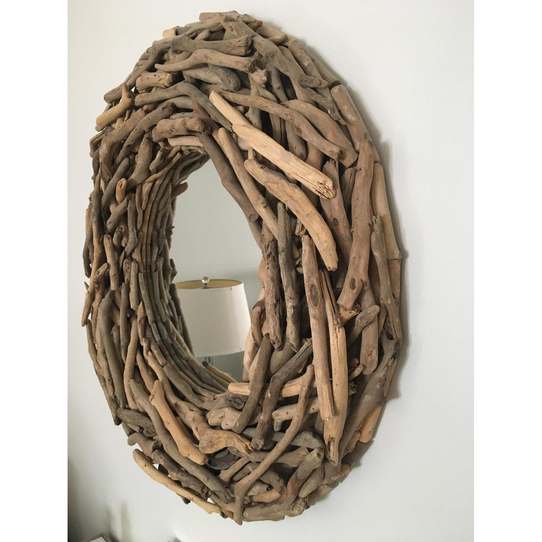 West Elm Round Driftwood Wall Mirror-2