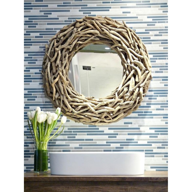 West Elm Round Driftwood Wall Mirror-4
