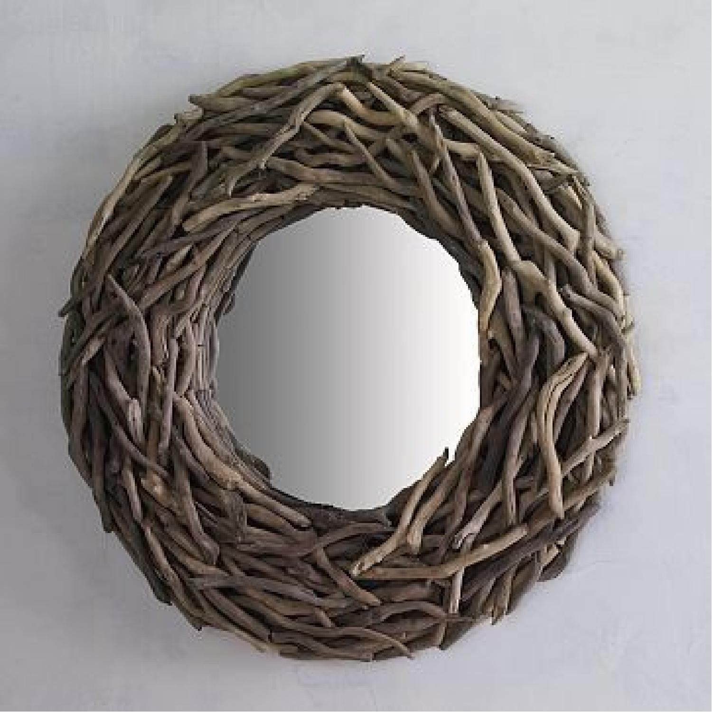 West Elm Round Driftwood Wall Mirror-5