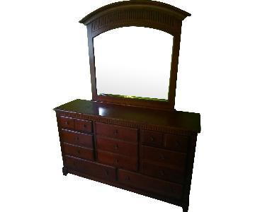 Wood 6-Drawer Dresser w/ Mirror