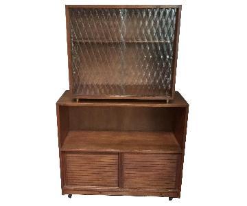Danish Style Mid Century Dresser w/ Hutch