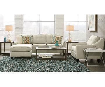 Cindy Crawford Home Vanilla 2 Piece Sleeper Sectional Sofa