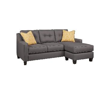 Jennifer Convertibles Port Sectional Sofa w/ Chaise