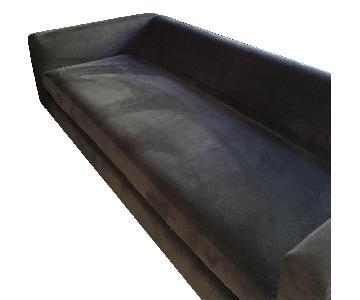 Crate & Barrel Grey Fabric Sofa