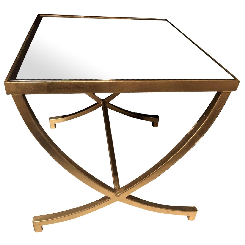 Metal Mirror Side Table