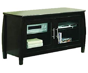 Cappuccino TV Console w/ Height Adjustable Shelves