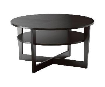 Ikea Vejmon Coffee Table in Black