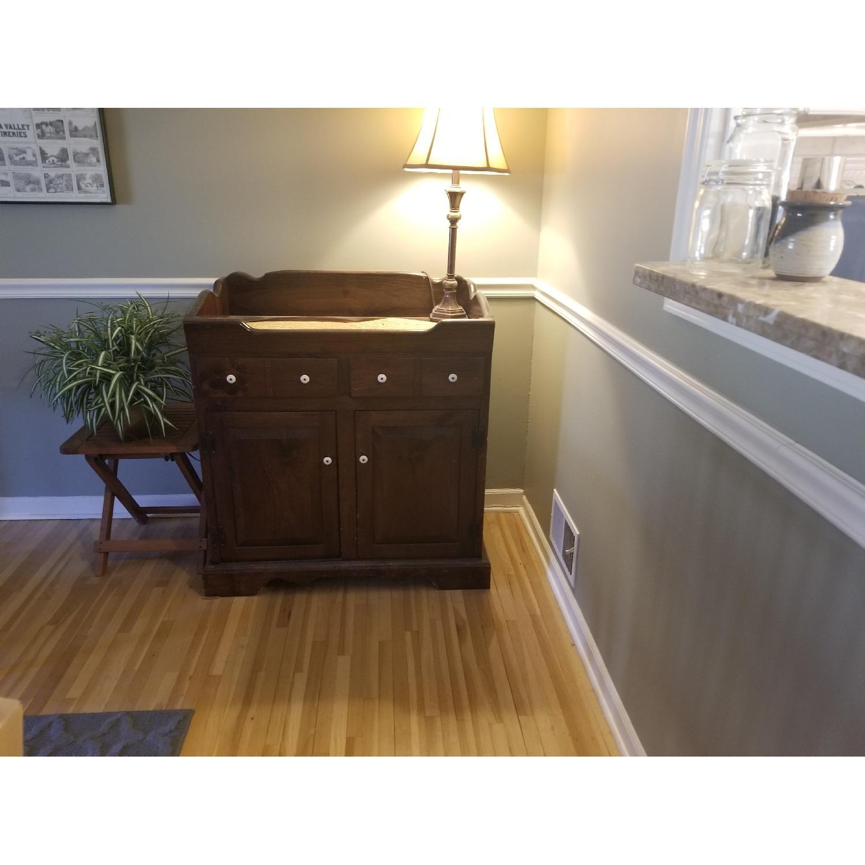 Dark Brown Wood Dry Sink/Bar-0