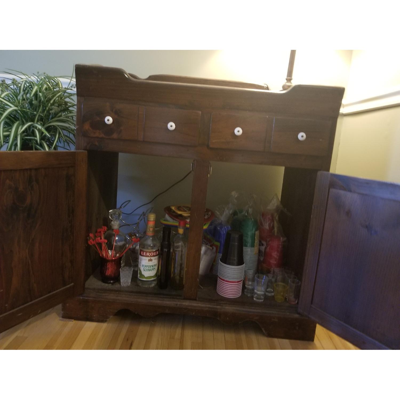 Dark Brown Wood Dry Sink/Bar-2