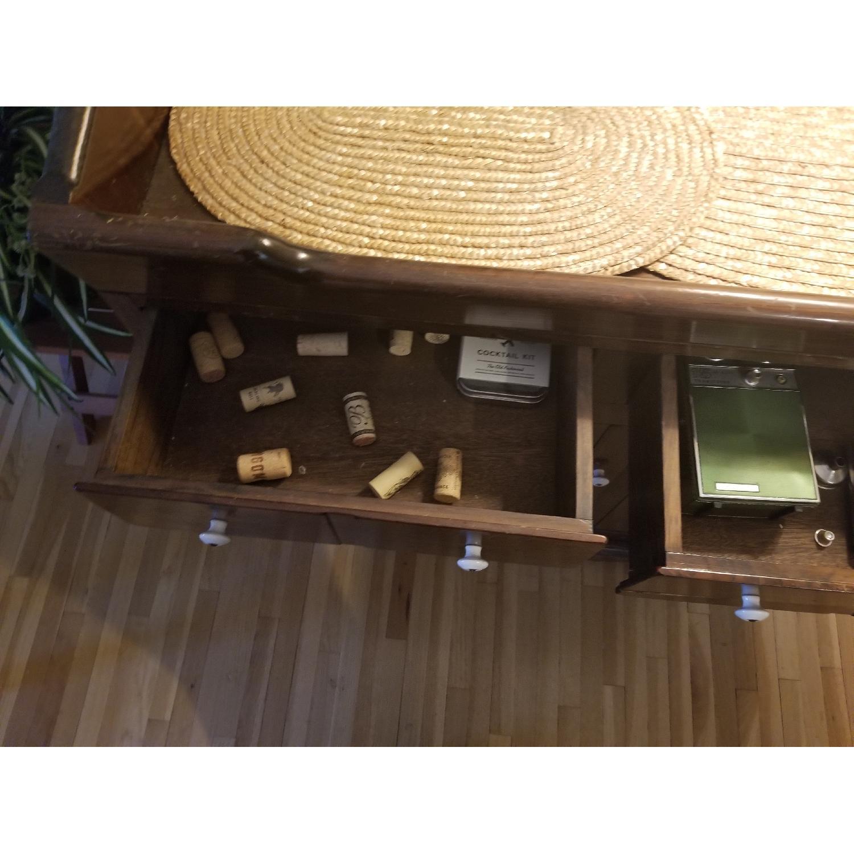 Dark Brown Wood Dry Sink/Bar-3
