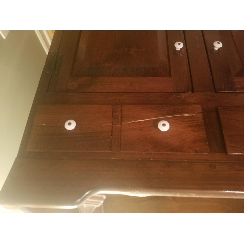 Dark Brown Wood Dry Sink/Bar-4