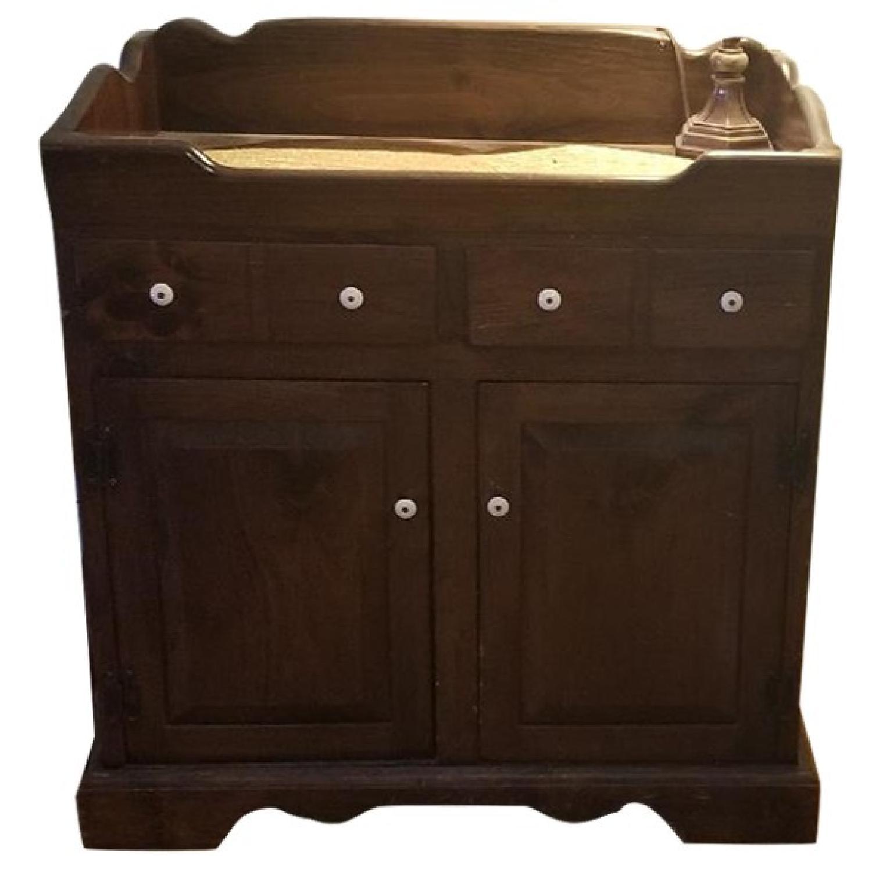 Dark Brown Wood Dry Sink/Bar