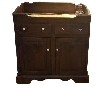 Dark Brown Wood Dry Sink/Bar
