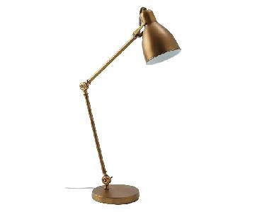 West Elm Bronze Industrial Task Table Lamp