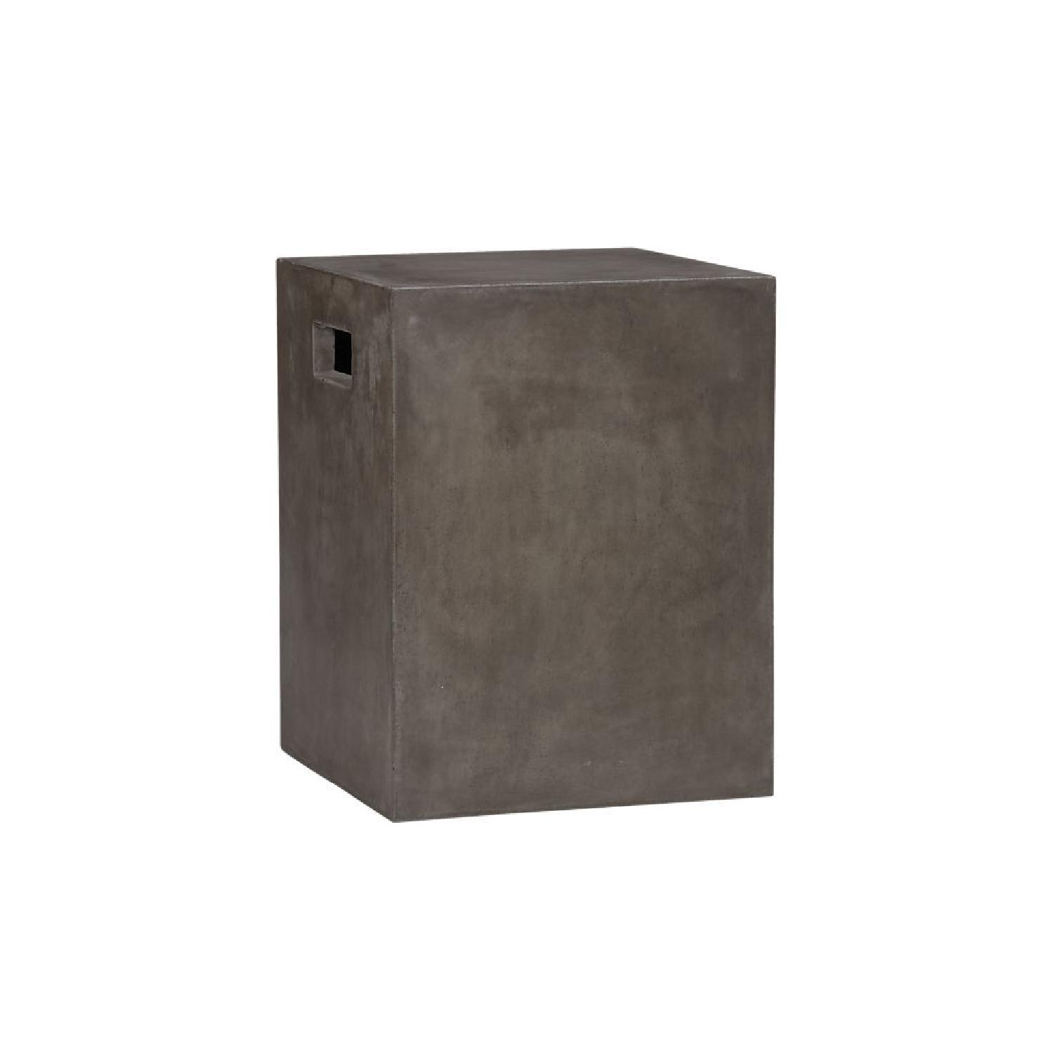CB2 Cement Grey Side Tables