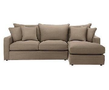 Room & Board Orson Sectional Sofa w/ Right Arm Chaise