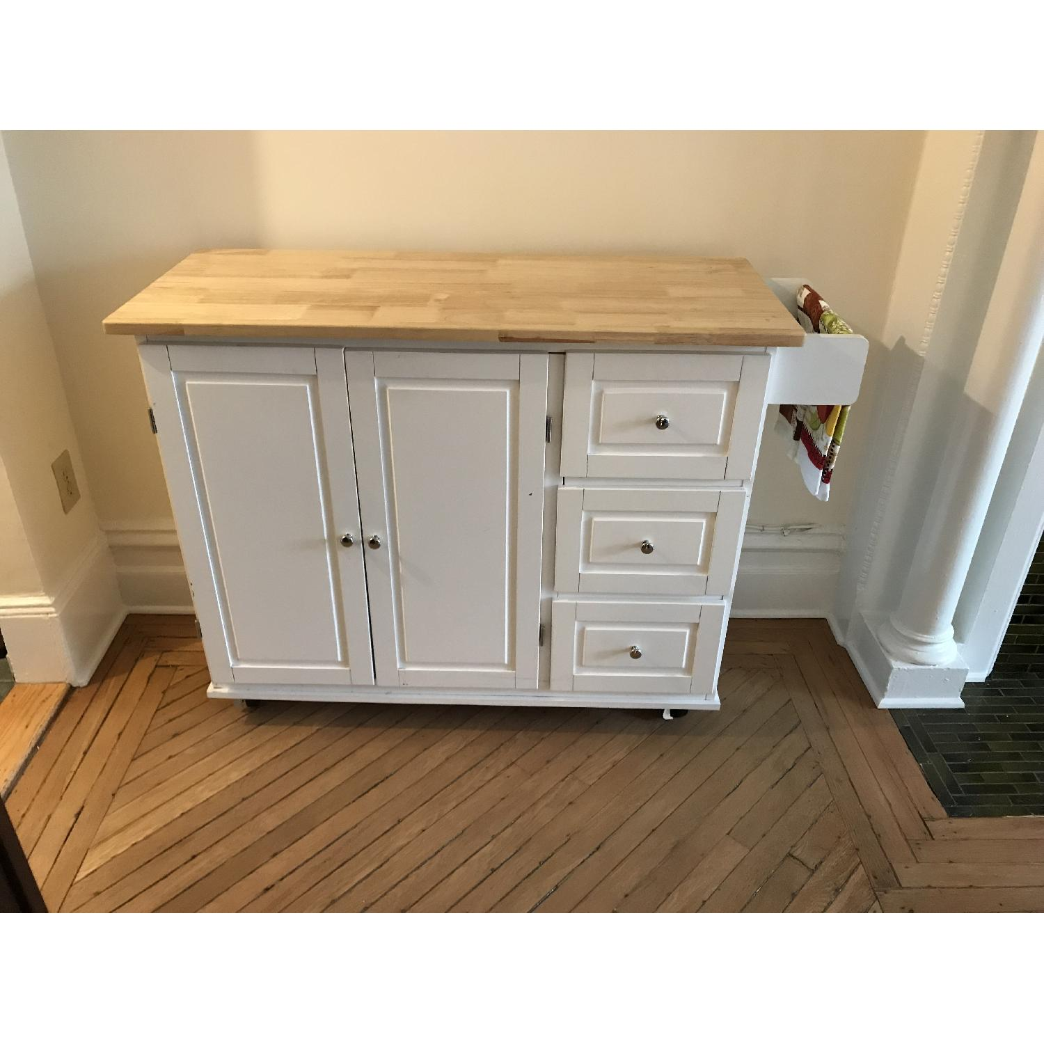 Arpdale Kitchen Island w/ Natural Wood Top-0