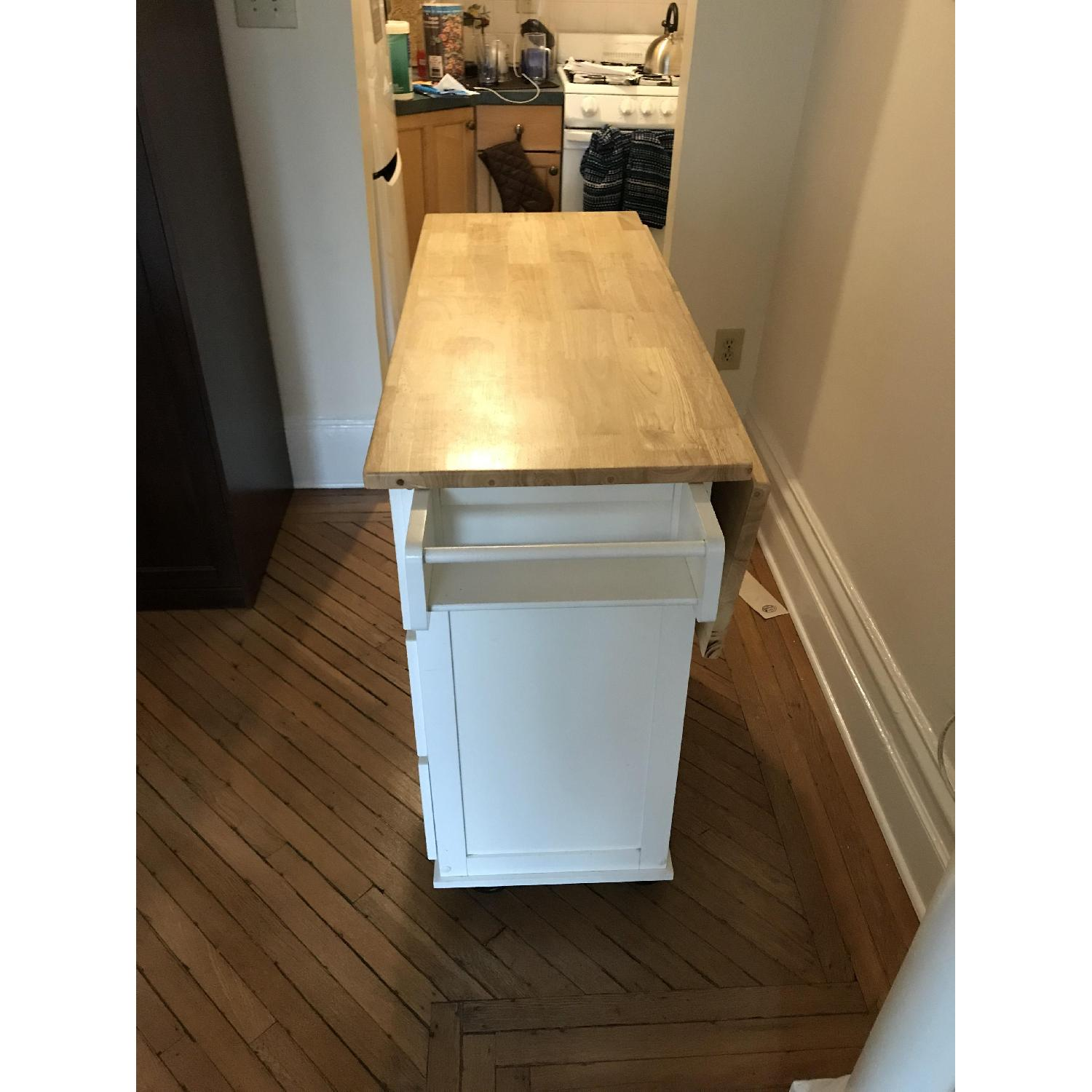 Arpdale Kitchen Island w/ Natural Wood Top-1