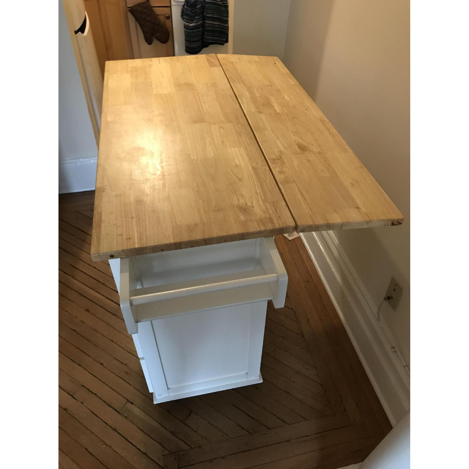 Arpdale Kitchen Island w/ Natural Wood Top-2