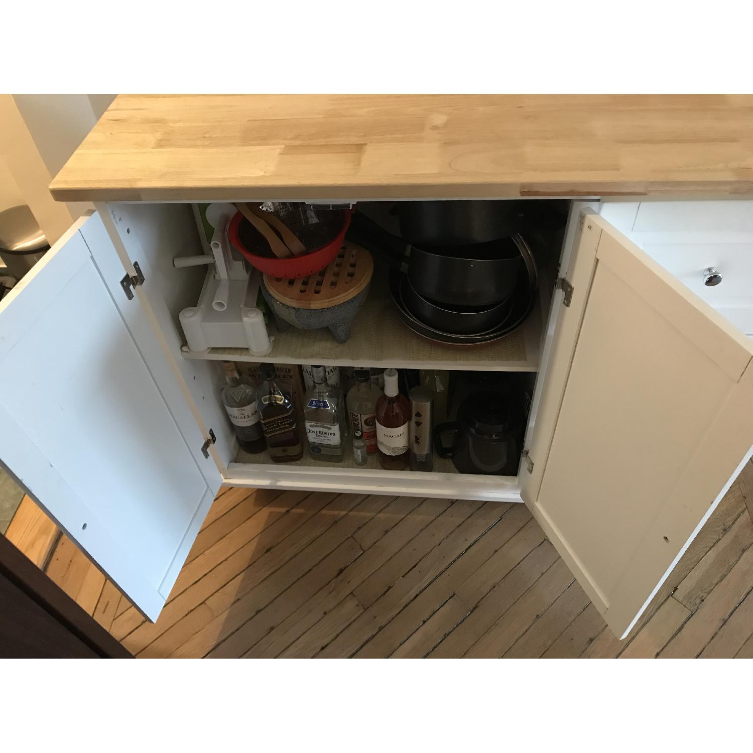 Arpdale Kitchen Island w/ Natural Wood Top-3