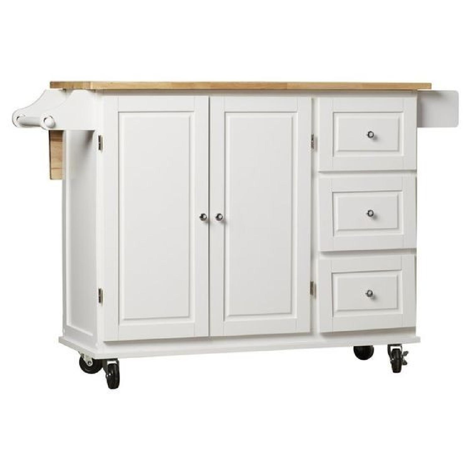 Arpdale Kitchen Island w/ Natural Wood Top