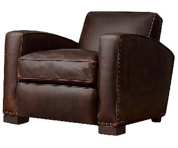 Restoration Hardware Library Leather Chair
