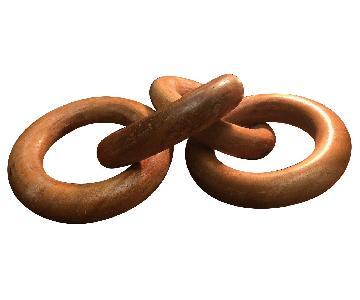 Decorative Wooden Chain Link Sculpture