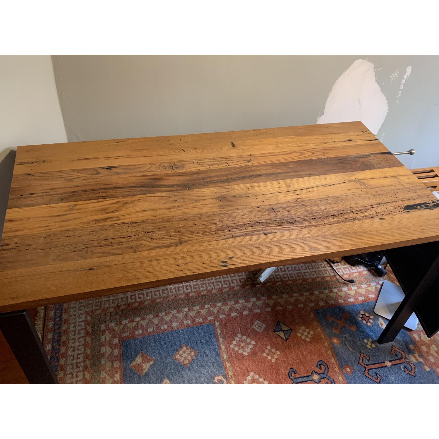 Room & Board Reclaimed Chestnut Top Table w/ Natural Steel-0