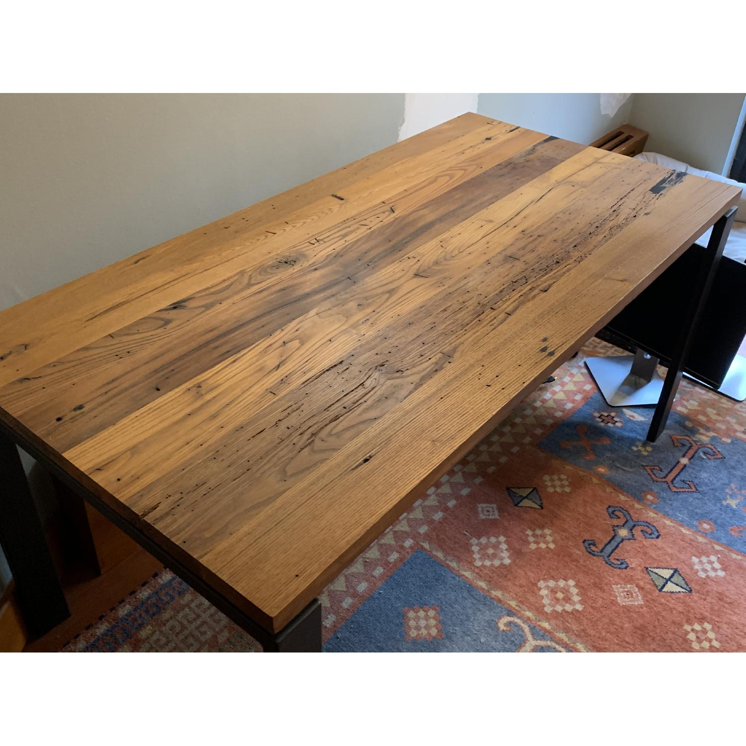 Room & Board Reclaimed Chestnut Top Table w/ Natural Steel-1