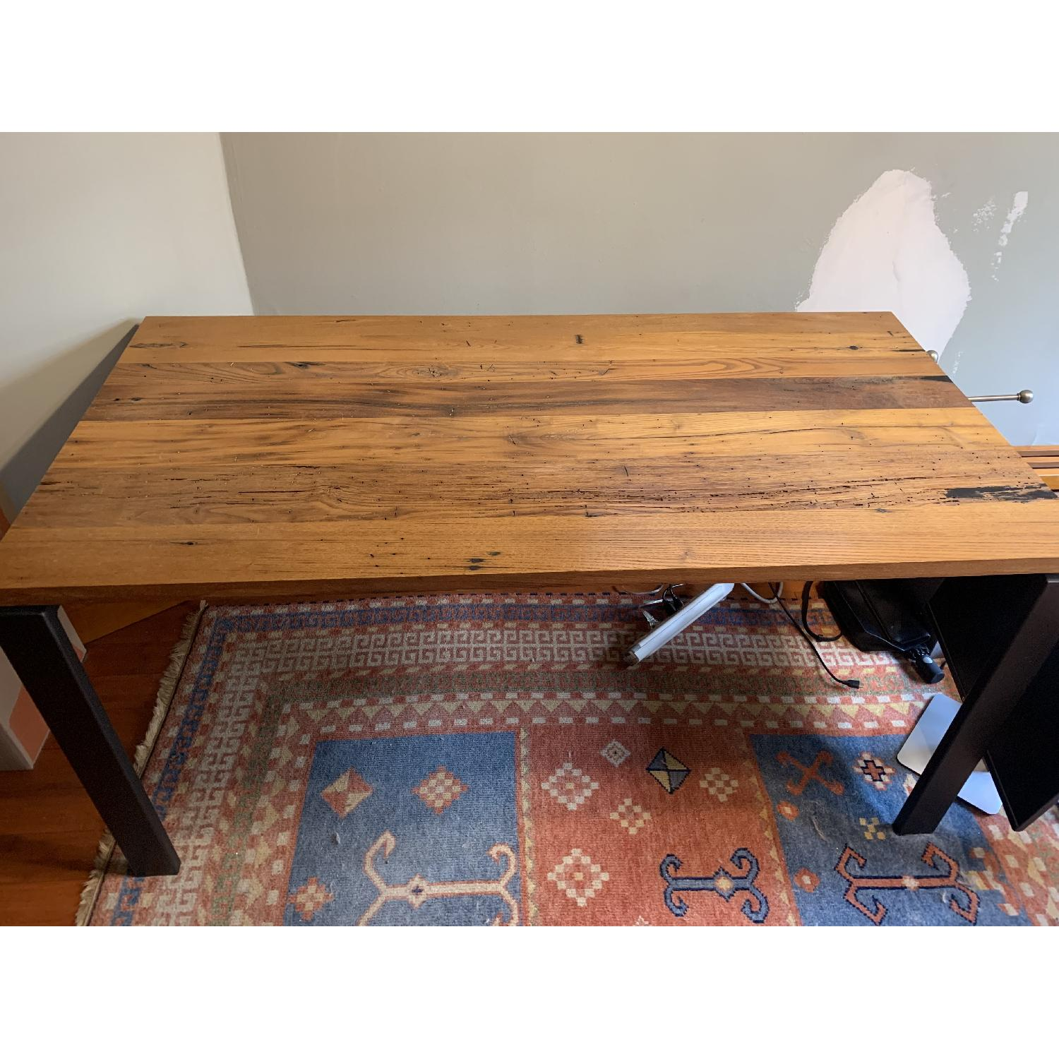 Room & Board Reclaimed Chestnut Top Table w/ Natural Steel-2
