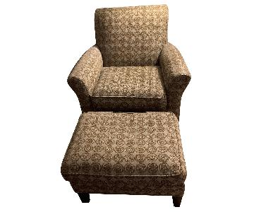 Room & Board Upholstered Chair & Ottoman