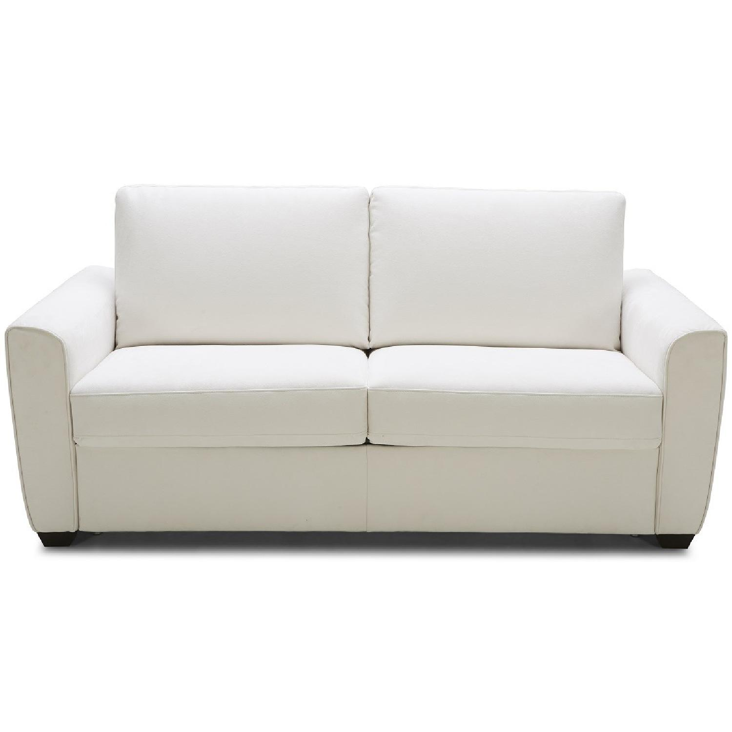 White Sofa Bed - image-0