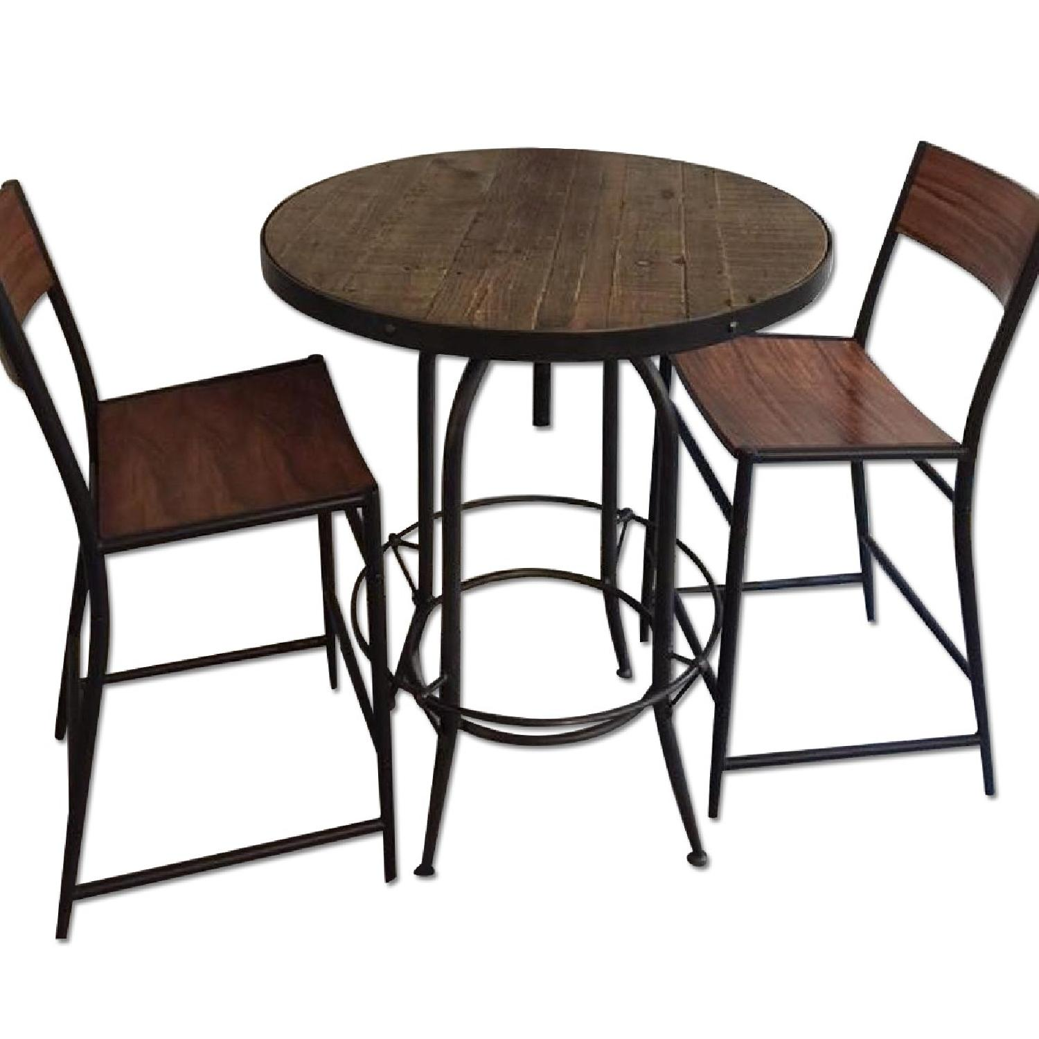 West Elm Table w/ 2 Chairs - image-0