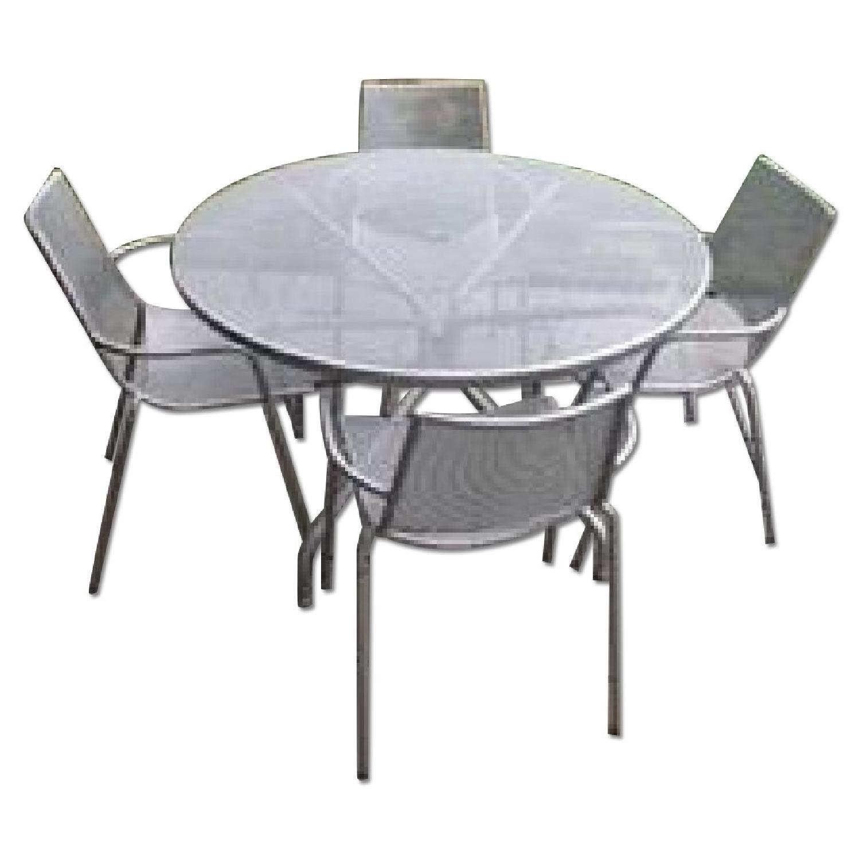 Room & Board Kona Outdoor Table w/ 4 Chairs - image-0