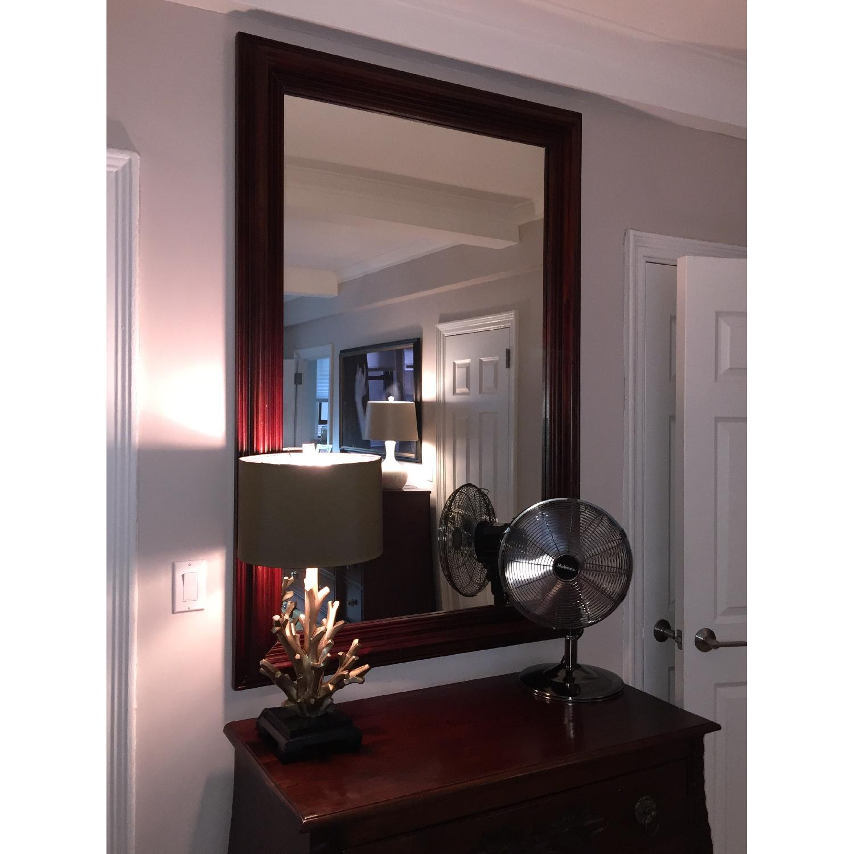 Large Solid Wood Framed Beveled Mirror - image-2