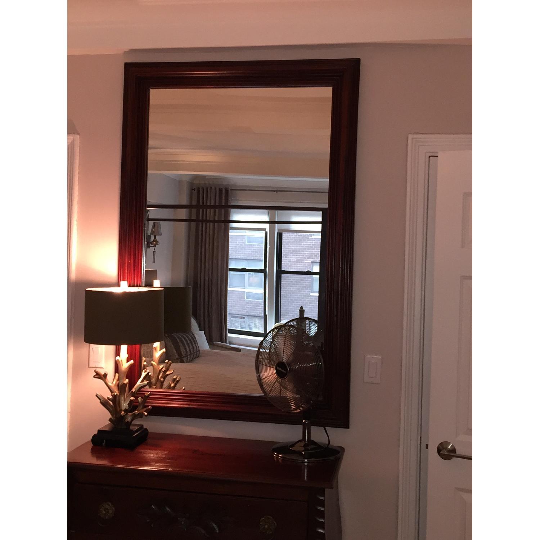 Large Solid Wood Framed Beveled Mirror - image-3