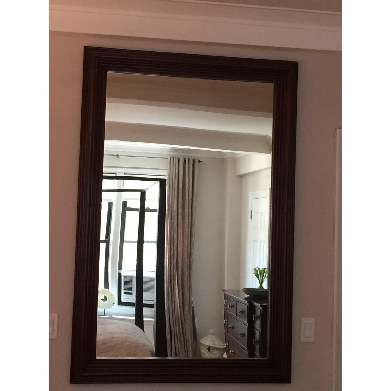 Large Solid Wood Framed Beveled Mirror - image-5