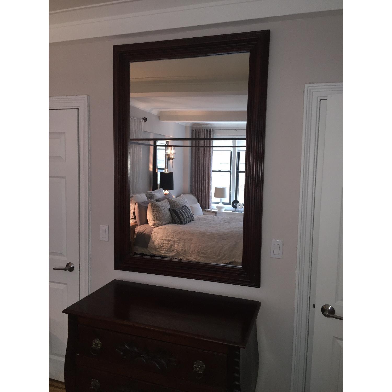 Large Solid Wood Framed Beveled Mirror - image-6