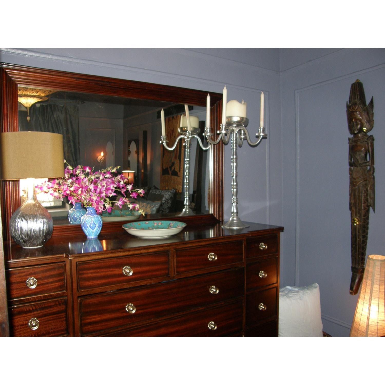 Large Solid Wood Framed Beveled Mirror - image-7