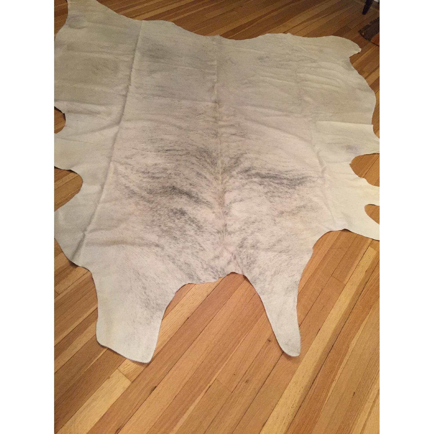 Animal Hide Rug from Argentina in White, Cream & Gray - image-6