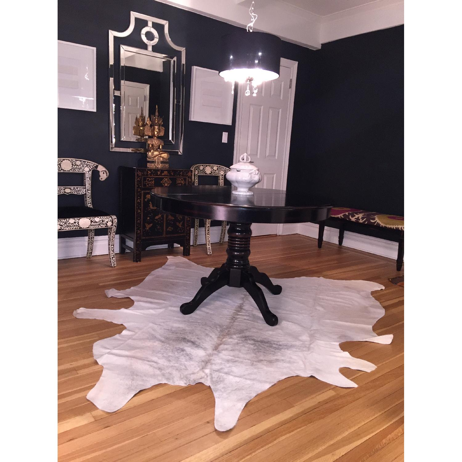 Animal Hide Rug from Argentina in White, Cream & Gray - image-8
