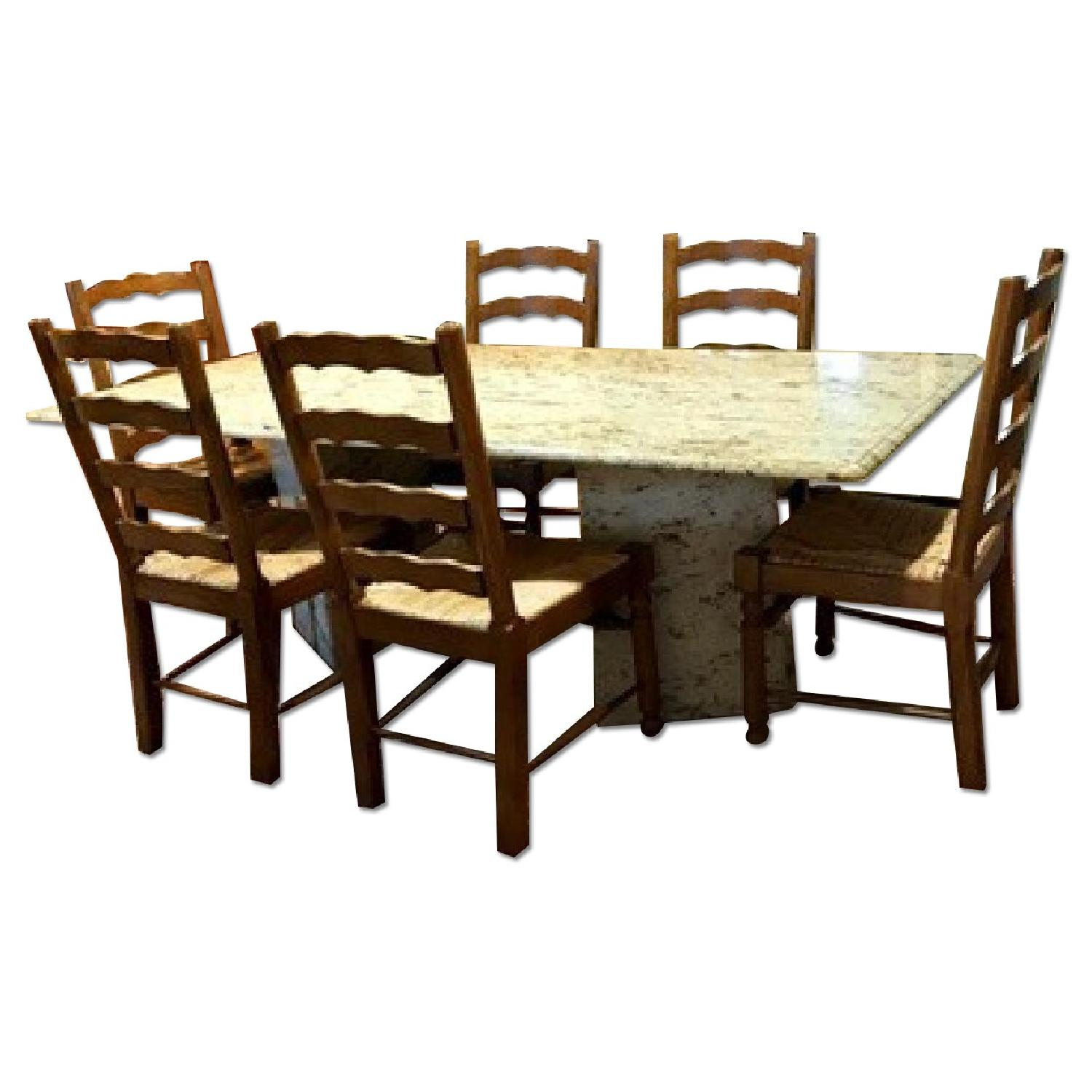 Granite Top Dining Table - image-0