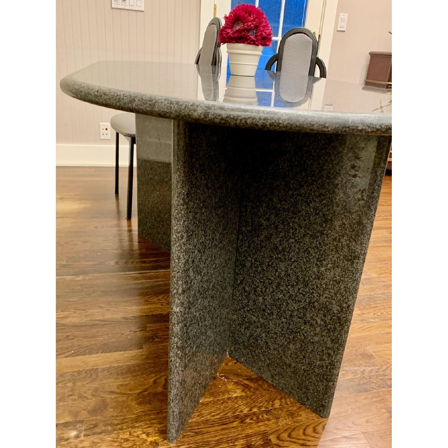 Granite Top Dining Table w/ 4 Chairs - image-2