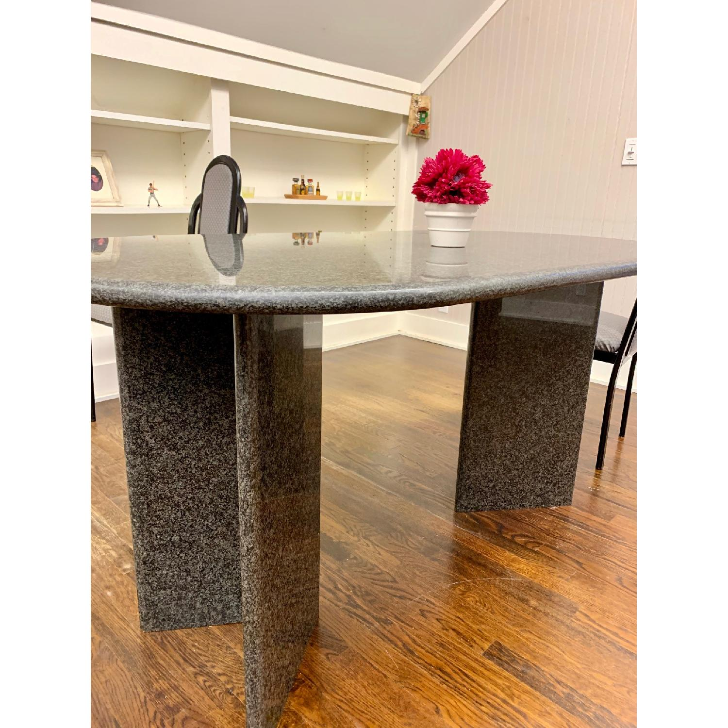 Granite Top Dining Table w/ 4 Chairs - image-3