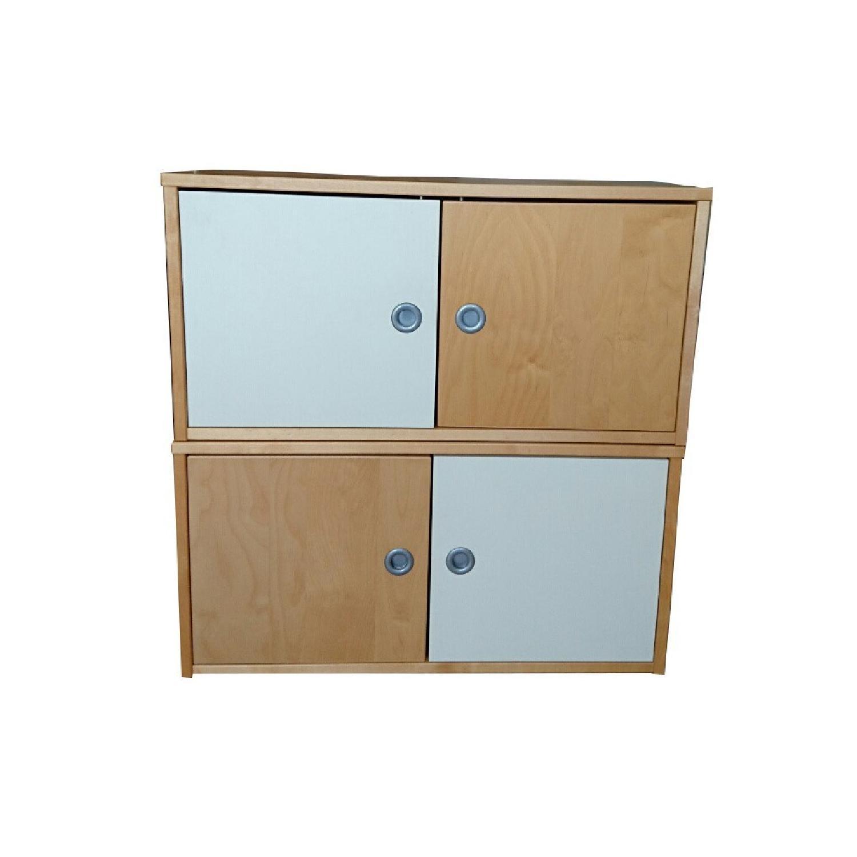 Ikea Wall Storage Units w/ Doors - image-0