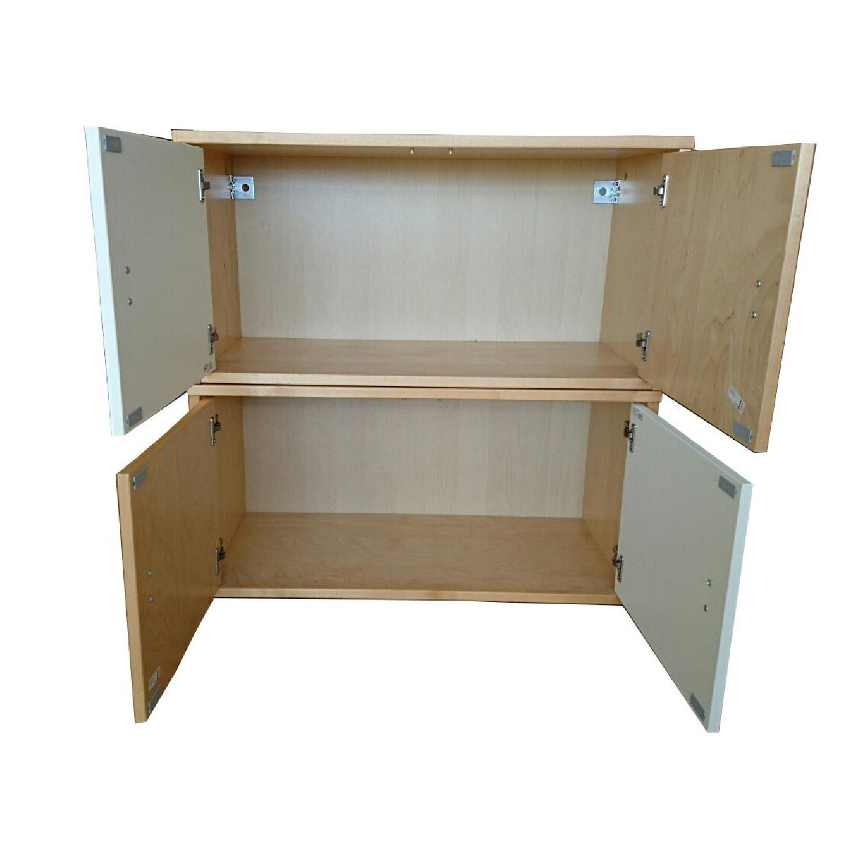 Ikea Wall Storage Units w/ Doors - image-1